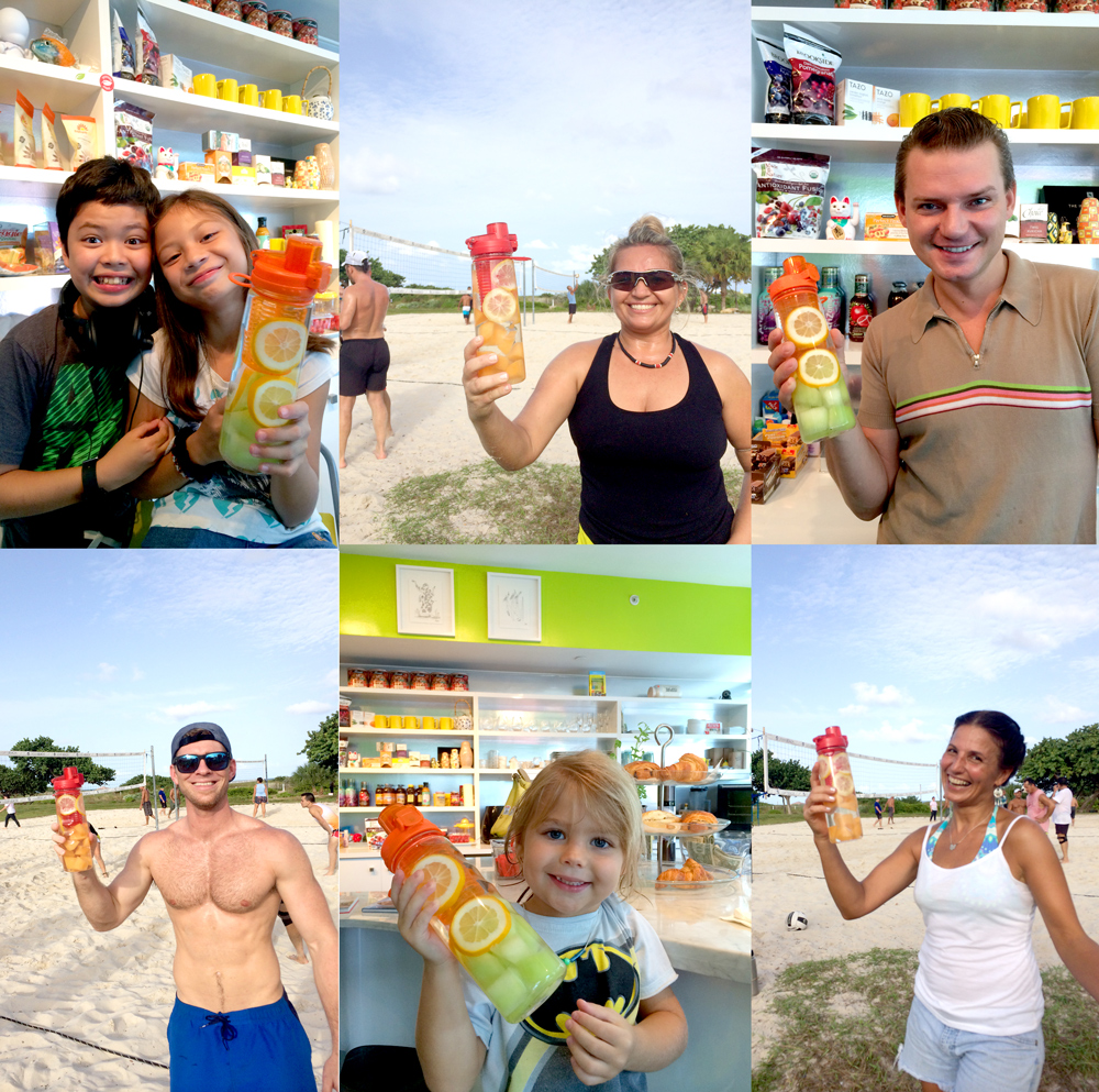 Fruit Infuser Water Bottle at The Beach - The Best Flavor Infusion Bottle on Planet Earth :)